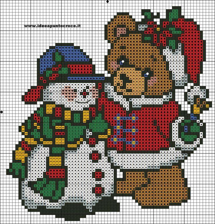 Christmas pattern - IDEE A PUNTO CROCE