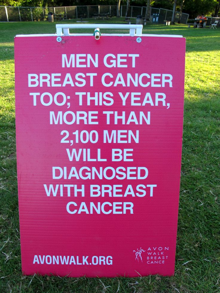 This year, more than 2,100 men will be diagnosed with breast cancer. www.avonwalk.org