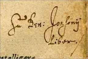 Ben Jonson's signature