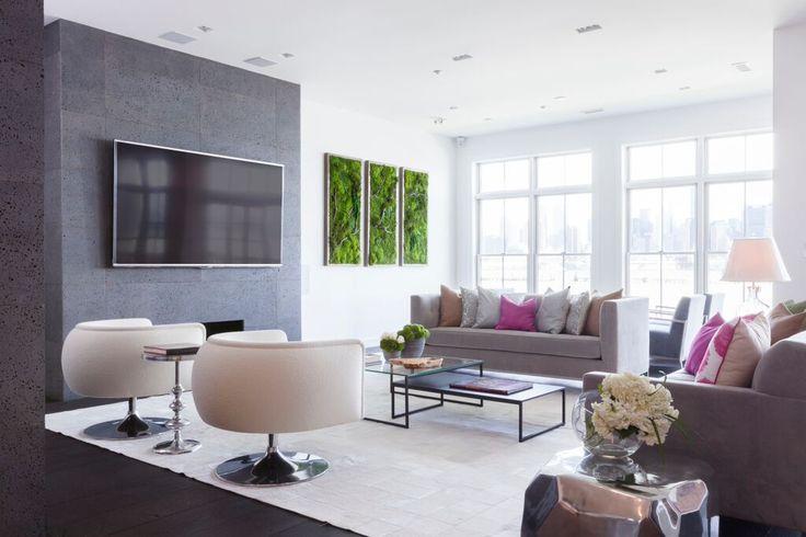 Indoor green moosbild : Artisan moss g zielone ściany living room plants