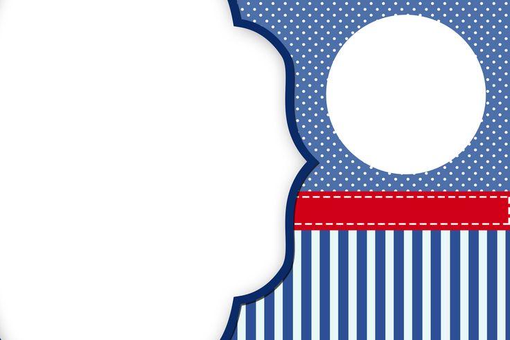 Poá Azul e Listras – Kit Completo Digital com molduras para convites, rótulos para guloseimas, lembrancinhas e imagens!