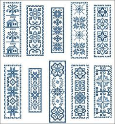 free cross stitch blue work - Google Search