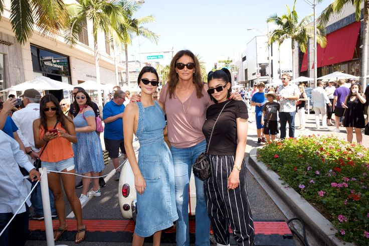 Kendall, Caitlyn and Kylie Jenner on Father's Day