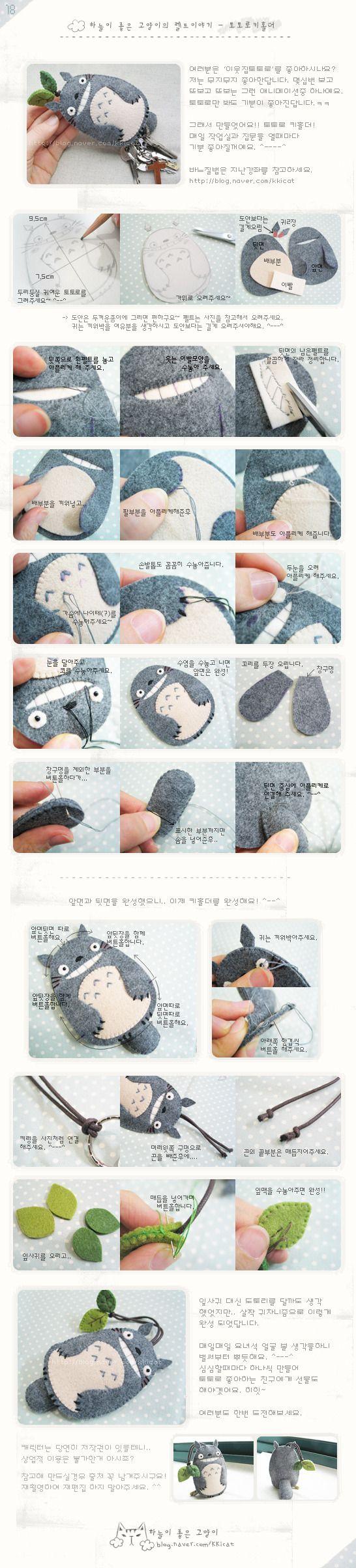 018 - 볼때마다 행복해 >0< 내사랑 토토로 키홀더 만들기! : 네이버 블로그
