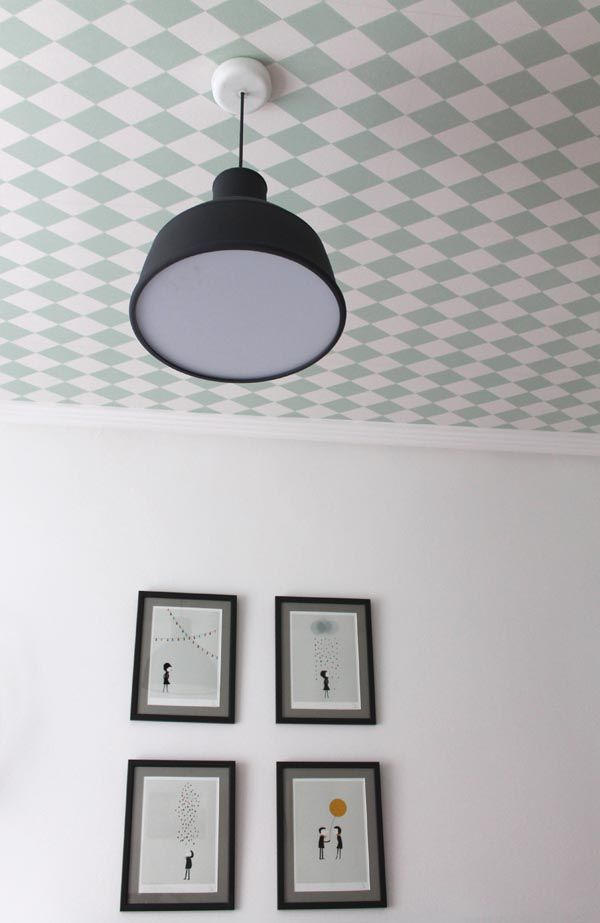 techo papel pintado