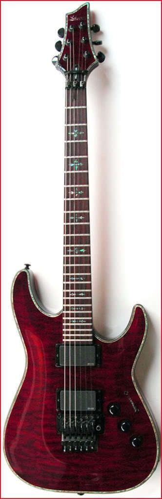TH SCHECTER C-1 FR HELLRAISER BCH Black Cherry Electric Guitar NOS New Old Stock | eBay