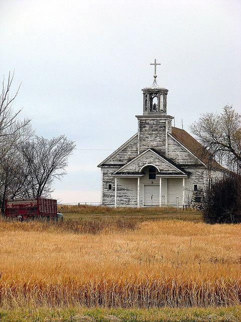 Abandoned Country Church, rural Saskatchewan, Canada | by Lilypon_SK, via Flickr