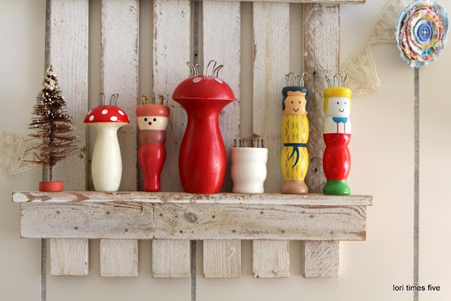 adorable collection of knitting spools