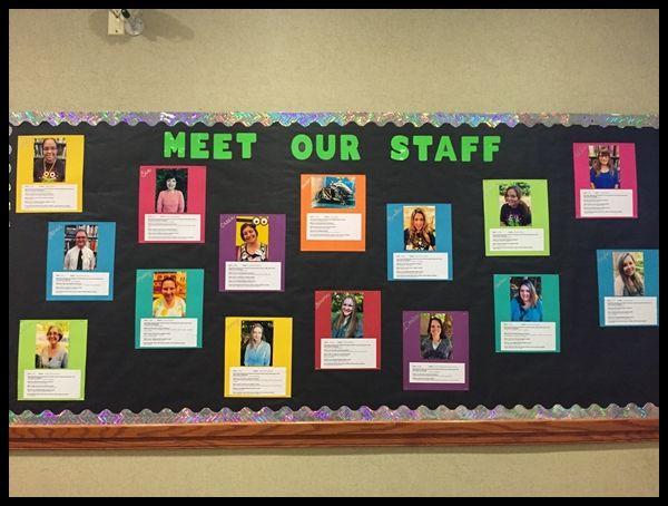 Unique professional bulletin board ideas Staff bulletin