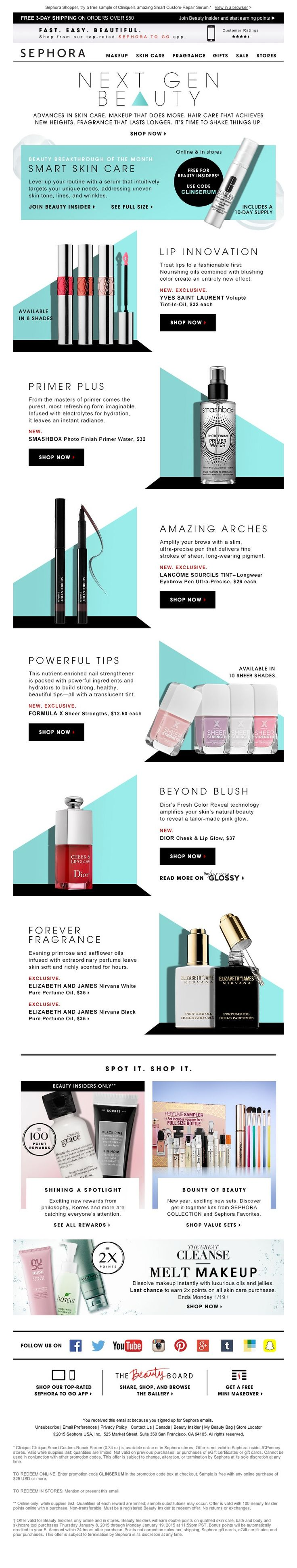 Sephora - Big breakthroughs. Huge results. 2X Points.