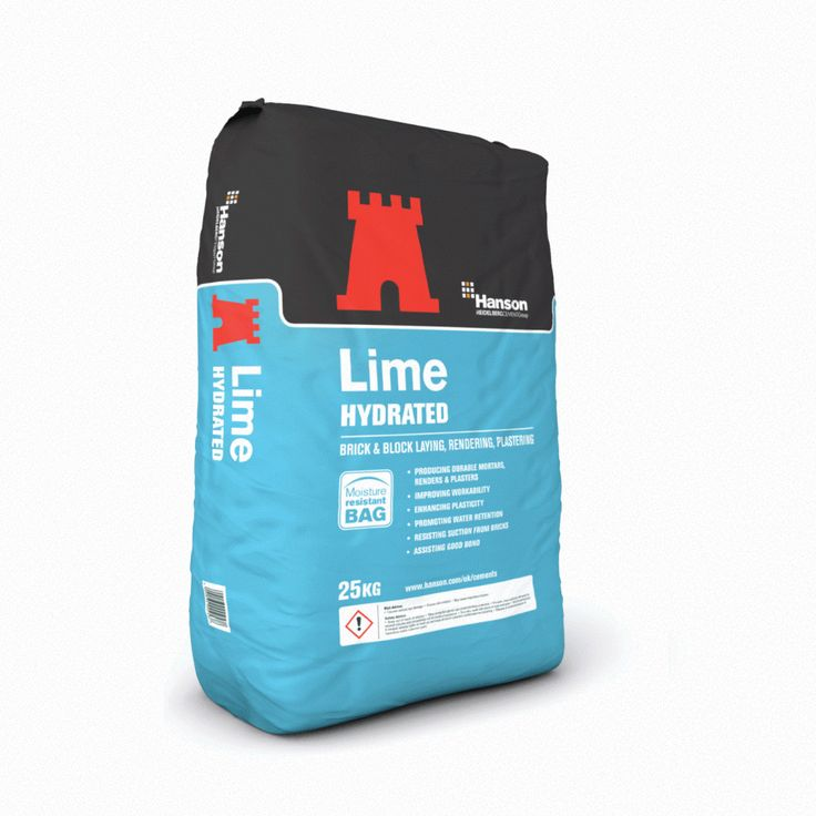 HANSON HYDRATED LIME BRIGHT WHITE 25Kg BAG USED IN PLASTERS RENDERS MORTARS