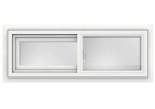 36 Inch X 12 Inch 3500 Series Sliding Vinyl Obscure Window Windows And Patio Doors Tiny House Camper Brick Molding