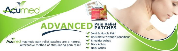 Create a central banner for pain relief patches that conveys effective natural therapy by Innovative Idea