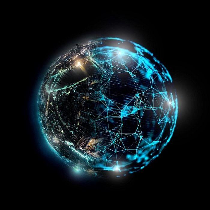 Tackling Digital Transformation Risks And Digitally Transforming Risk Management Joker Hd Wallpaper Science Illustration Blue Texture Background Digital transformation wallpaper hd