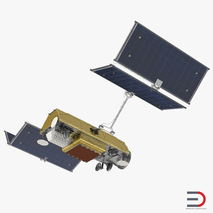 Communications Satellite Rigged 3D