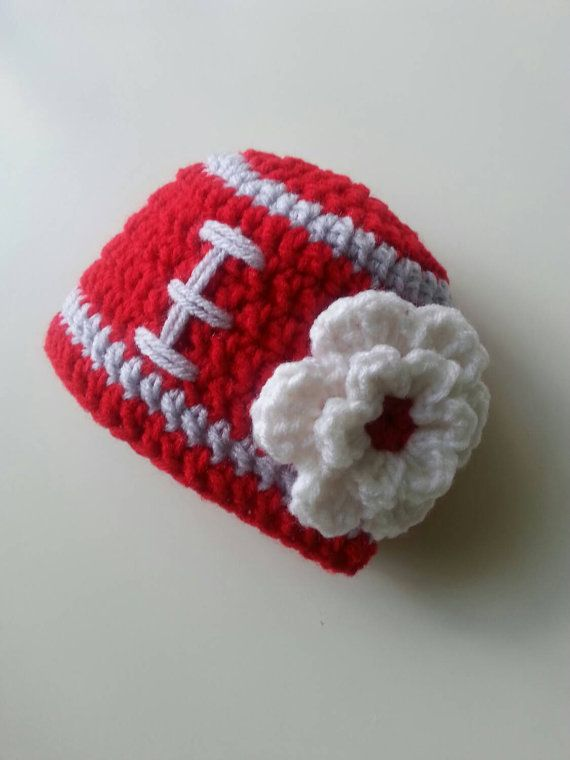Ohio State Baby Girl's Hat Ohio State Crochet Hat by Hats4Brats