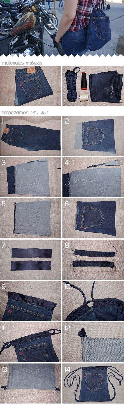 Hoy quiero compartir una pequeña recopilación de Internet de bolsos que pueden hacer con ropa o jeans reciclado, Es muy habitual que los ...