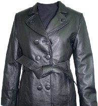 5006 STANDARD Grade Black Soft Supple Light Genuine Real Lambskin Leather Classic Traditional New Trench Coat Notched Lay Down Collar Double Breast Leather Covered Button Front Closure Slash Pocket Silky feel Pocket Lining, Lined, ZIP OUT FAKE FUR VELOUR LINER, Petite Regular Plus Size