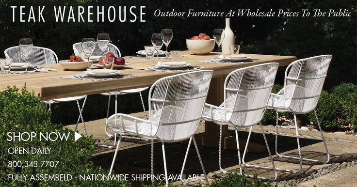 Magnificent deep seating outdoor lounge furniture, Teak Warehouse - contemporary, modern and traditional outdoor furniture. Discount prices, Shop now.