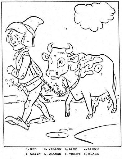 Les 908 meilleures images du tableau coloring sheets sur for Jack and the beanstalk coloring page