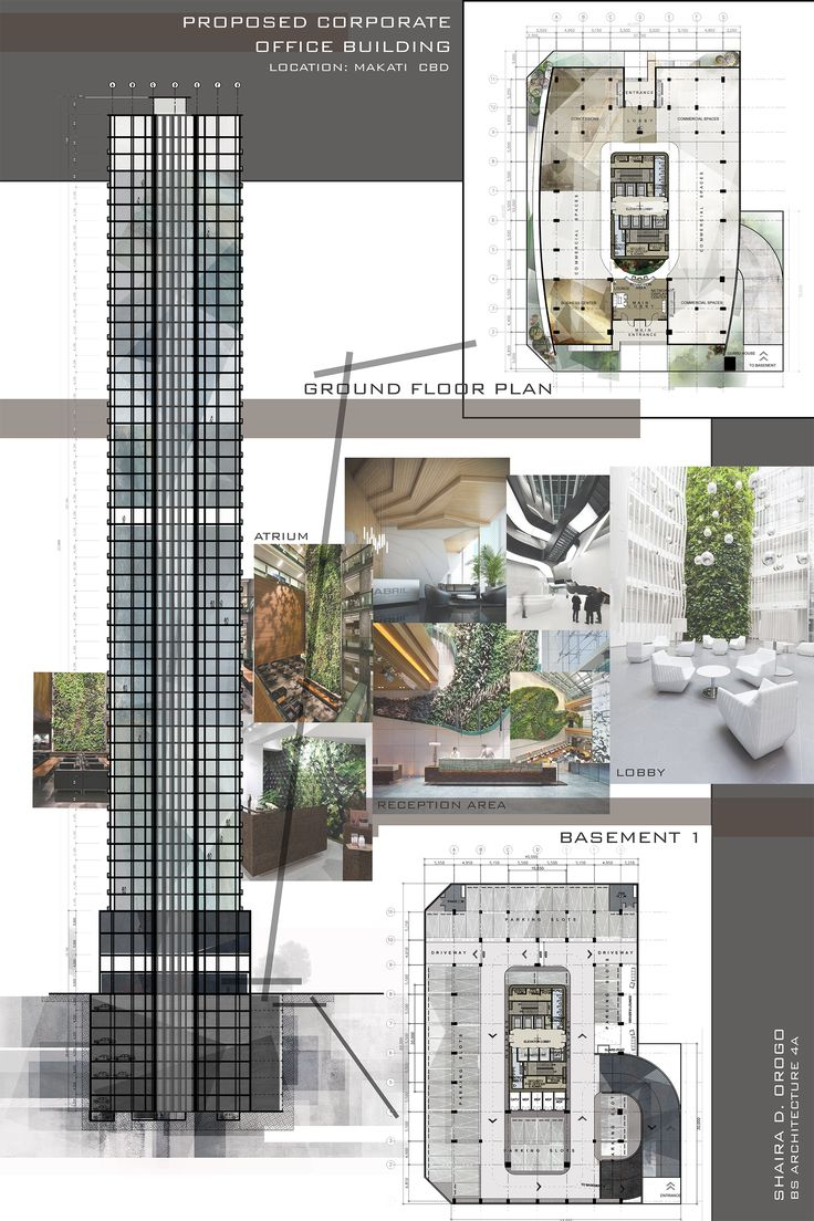 Design 8 / Proposed Corporate Office Building / High-rise Building / Architectural Layouts / Floor Plans