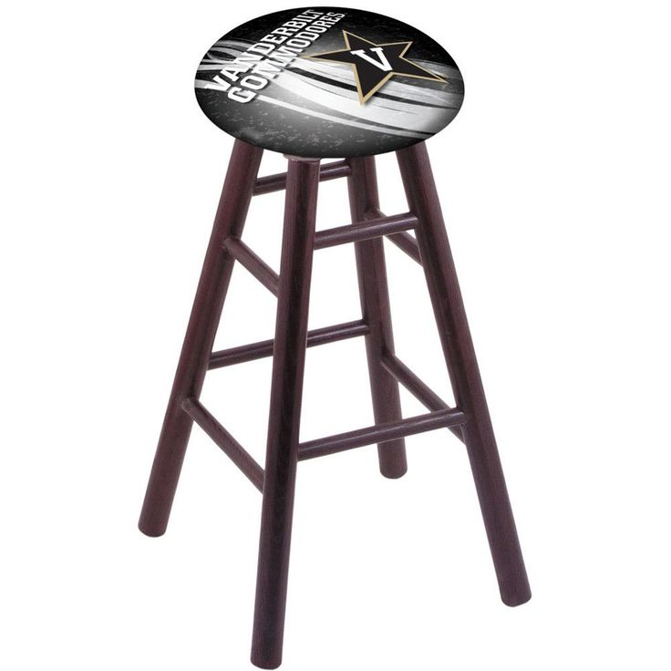 Vanderbilt Commodores Dark Cherry Oak Swivel Bar Stool