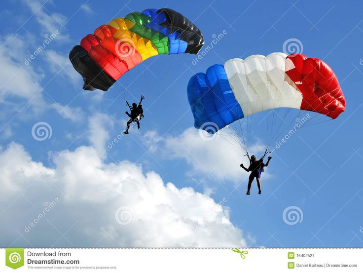 Zwei Fallschirme Lizenzfreie Stockfotografie - Bild: 16402527