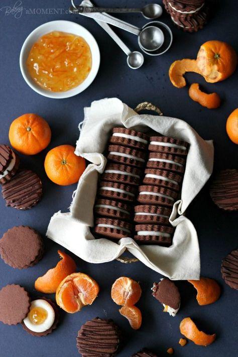 Chocolate Orange Sandwich Cookies