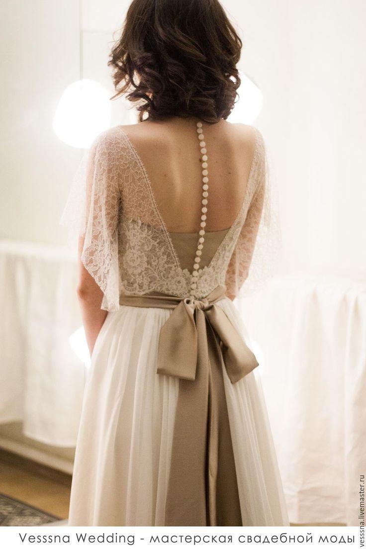 Свадебное платье из шелка - свадебное платье, свадебное платье с поясом, свадебное платье на заказ