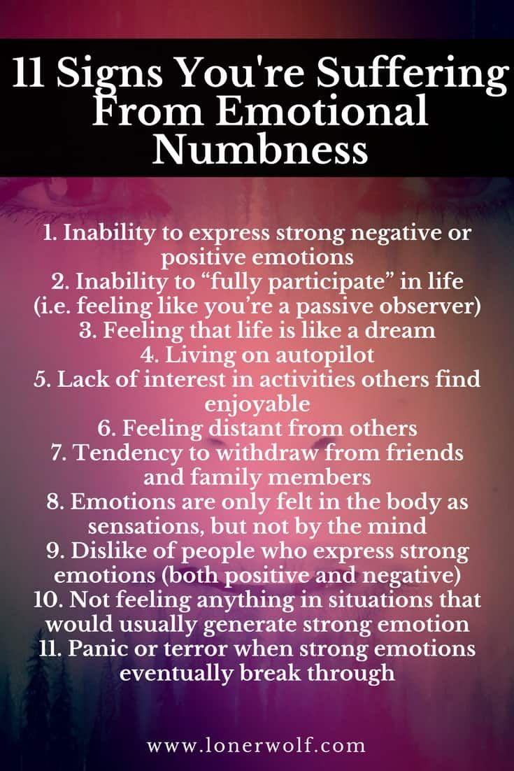 13 Signs You're Struggling With Emotional Numbness (the ...