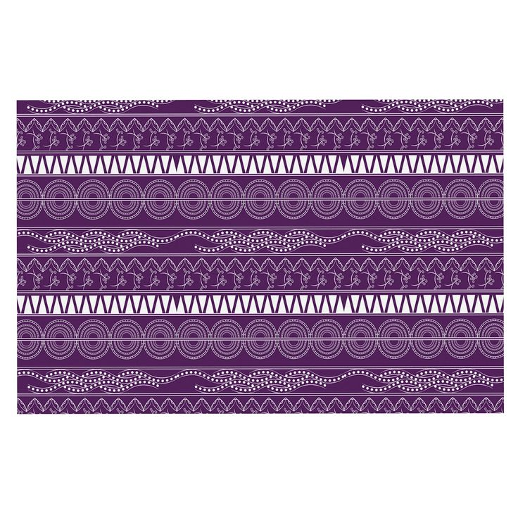 "Famenxt ""Pattern Purple"" Lavender Abstract Decorative Door Mat"