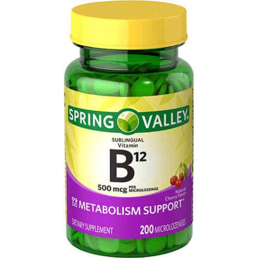 Spring Valley Sublingual B12 Microlozenges, 500 mcg, 200 count #SpringValley