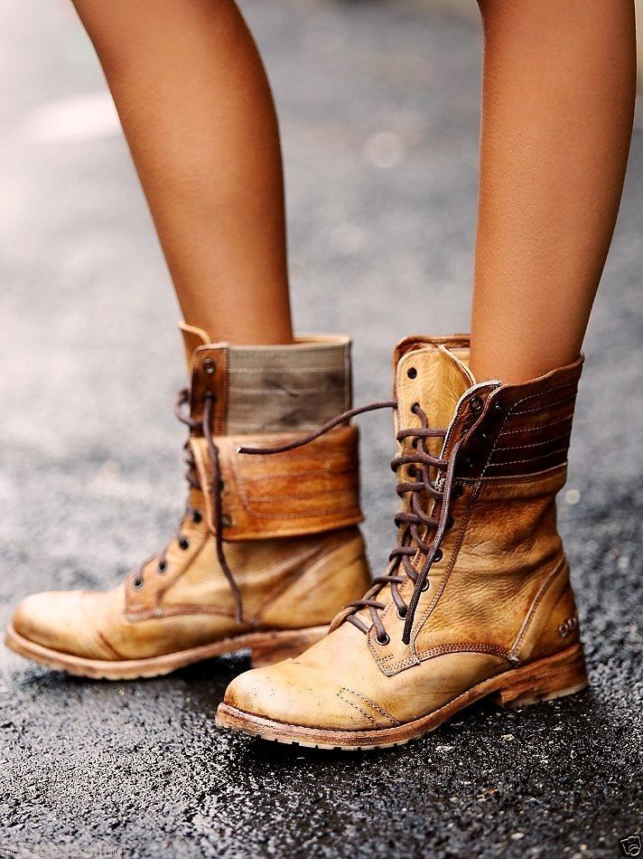 Free People Dunscape Roanne Lace Up Boots Bed Stu Tan Rustic Vintage Destroyed  #BedStu #CowboyWestern