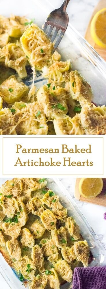 Parmesan Baked Artichoke Hearts recipe - Party Appetizer via @foxvalleyfoodie
