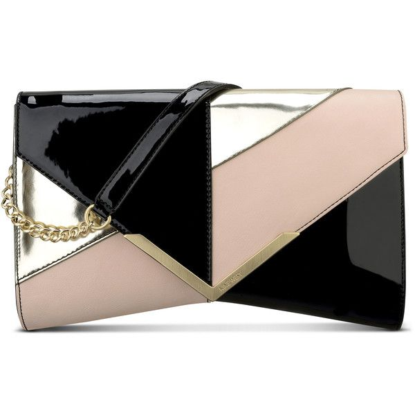 Nine West Collection Clutch ($69) ❤ liked on Polyvore featuring bags, handbags, clutches, nine west handbags, faux purses, nine west, shoulder strap purses and nine west purses