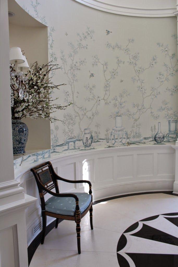 Foyer Wallpaper Love : Best foyer staircase ideas on pinterest open