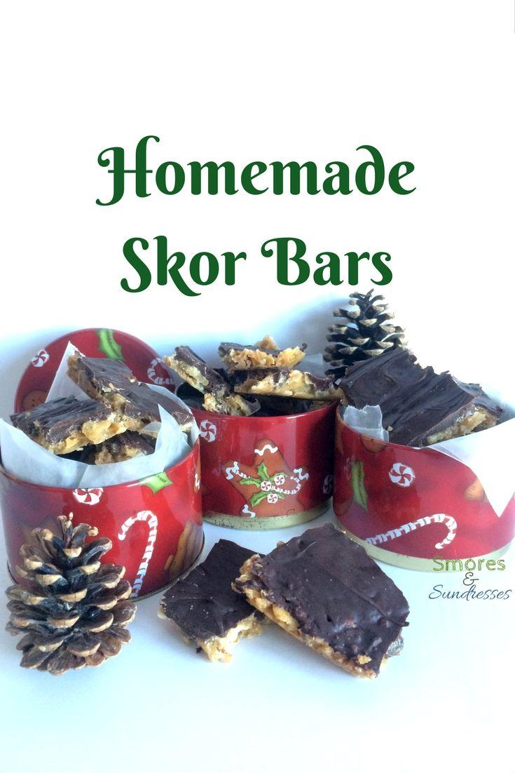 Smores and Sundresses - Homemade Skor Bars #dessert #christmas #yum