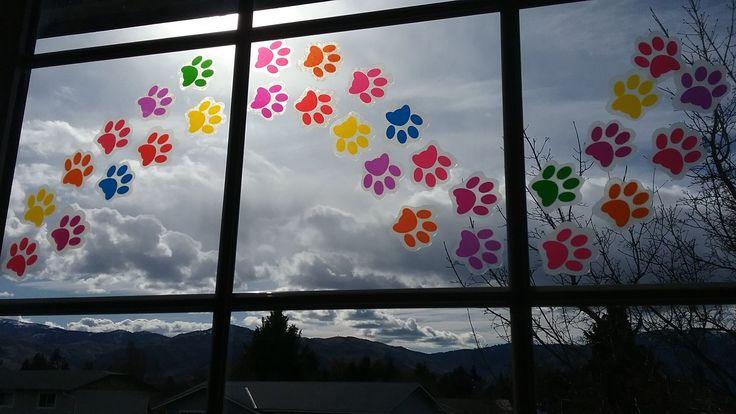 Pet Paw Prints Window Clings Decals 2 Quot Suncatcher