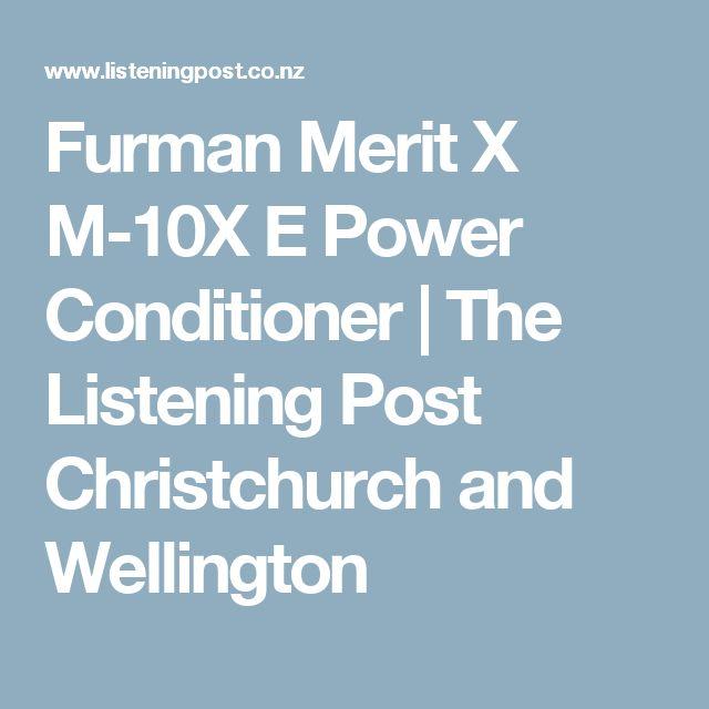 Furman Merit X M-10X E Power Conditioner | The Listening Post Christchurch and Wellington