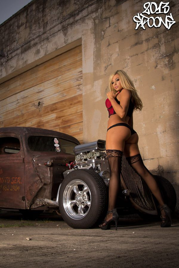 sexy women and hot rods