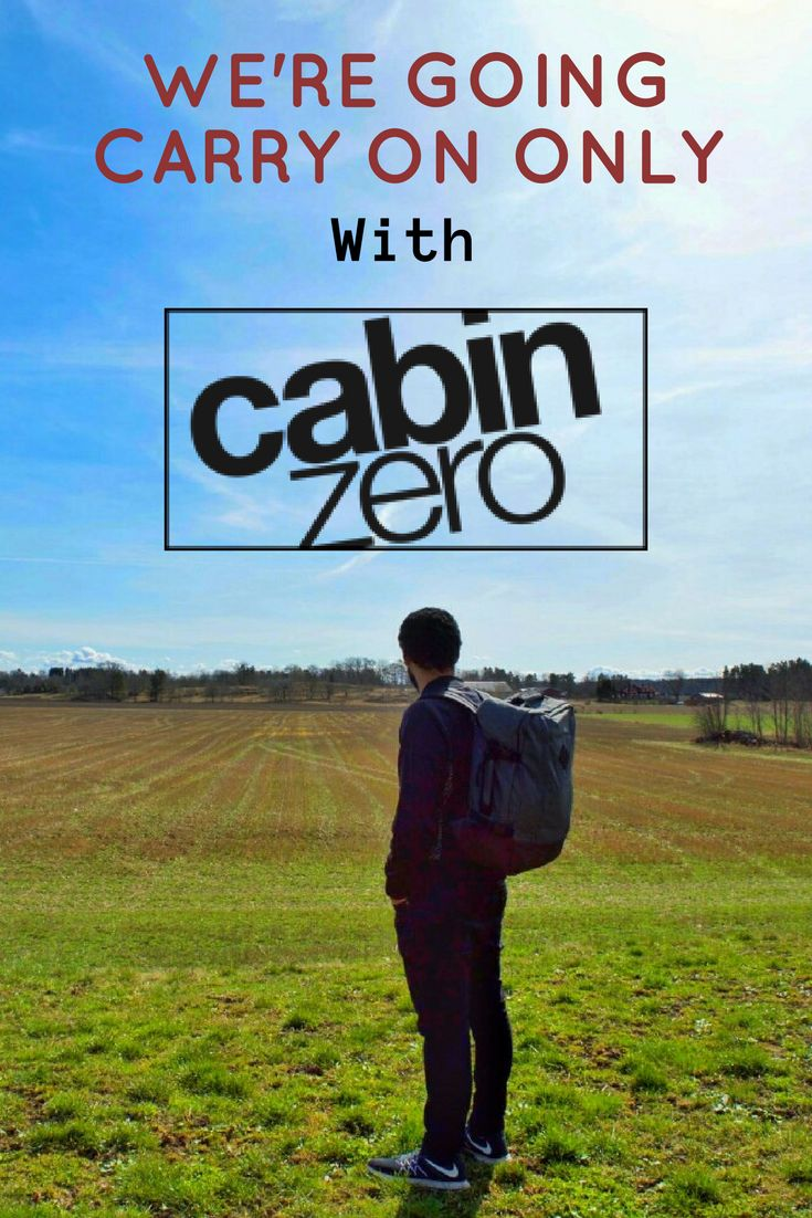 We've made a big decision. We're going carry on only with our awesome CabinZero bags.