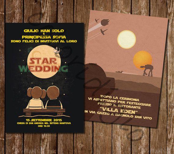 Participation in wedding style Star Wars-Star wars wedding invitation