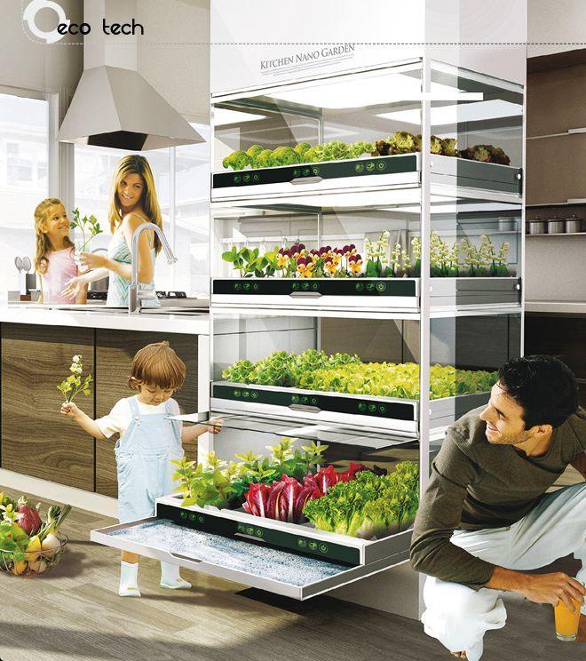 Czy tak w przyszłości będą wyglądały nasze kuchnie? #kuchnia #ekologia #eco…