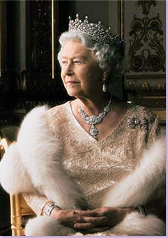 Queen Elizabeth - Detail of Annie Leibovitz photograph