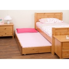 Stompa Classic Kids Honey Trundle Bed inc. Mattress