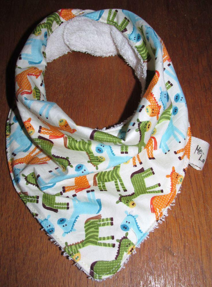 Giraffe bandanna bib