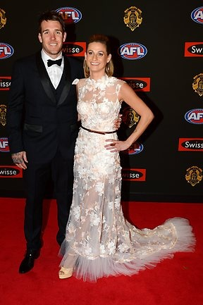 2012 AFL Brownlow Medal red carpet - Collingwood's Dane Swan and Taylor Wilson. Picture: David Caird