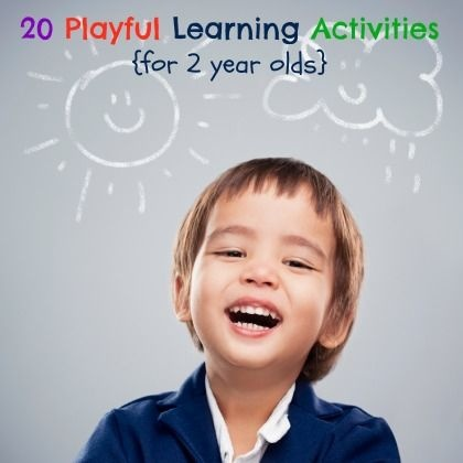 20 Easy Activities for Educational Playtime With Your 2 Year Old - keep them busy this summer!