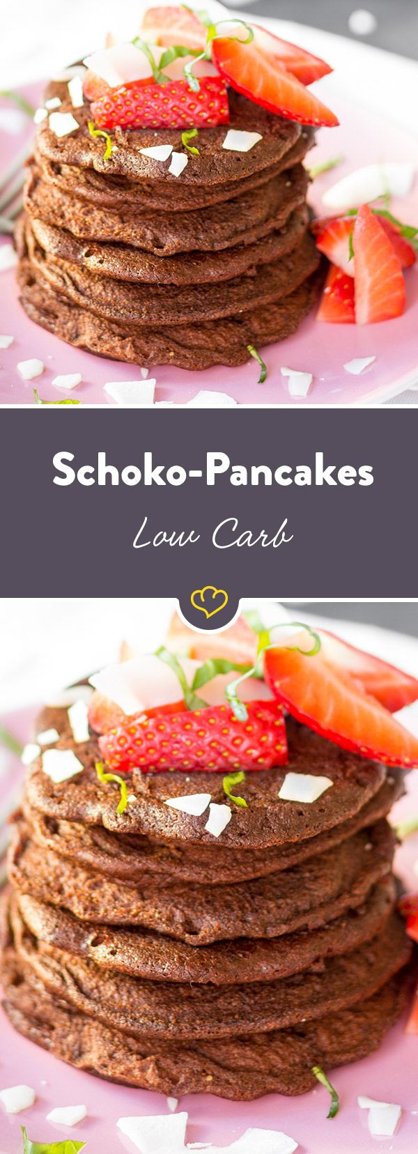 Doppelt Schokolade, doppelt lecker und doppelt leicht. Dieser Pancake erinnert an den amerikanischen Keksklassiker und kommt mit extra viel Schoko daher.