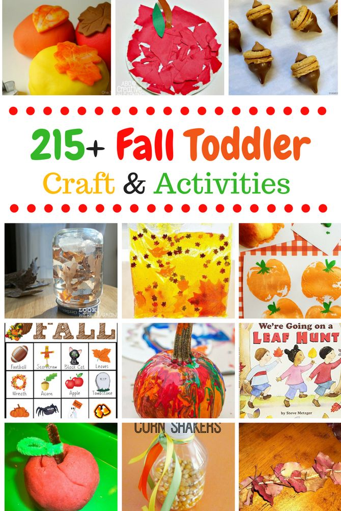 215  Fall Crafts and Activities for Toddlers